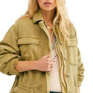 FREE PEOPLE Seize The Day Military Jacket S